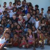 Patrick, Katie and Marco with the children of Suluan